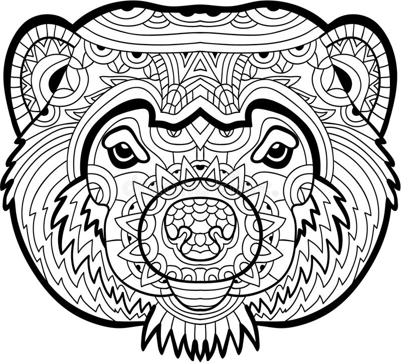Monochrome Drawing Wolverine Patterns Coloring Page Stock Vector ... | 724x800