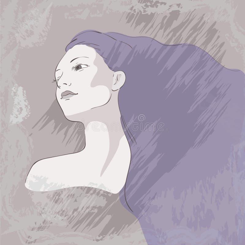Monochrome drawing royalty free illustration