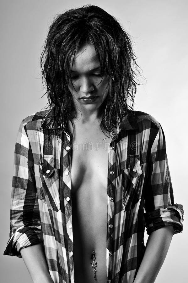 Free Monochrome Fashion Girl Stock Images - 16561154