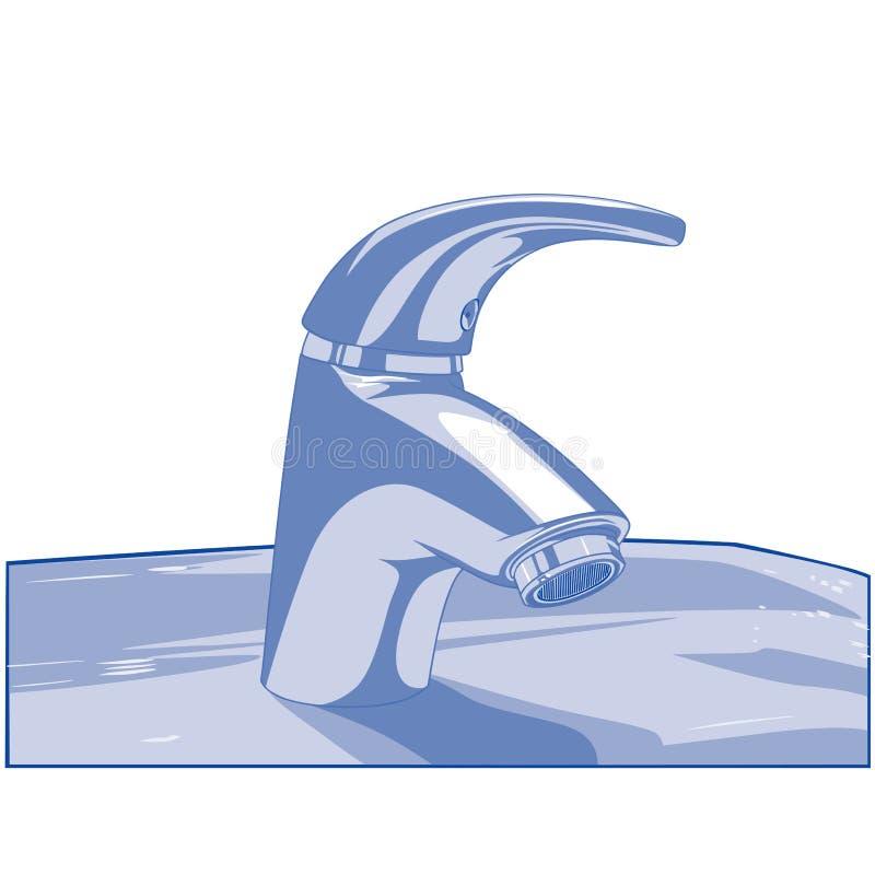 Monochrome Faucet стоковая фотография