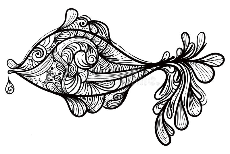 Monochrome fish stock photos