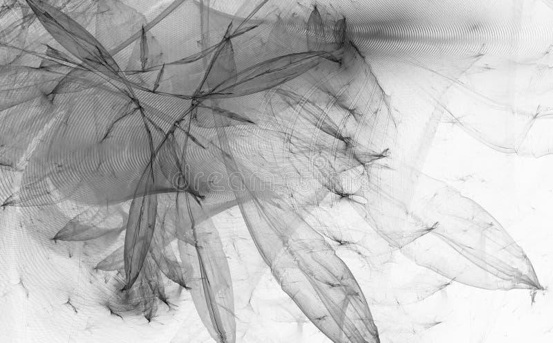 Download Monochrome Fractal Background. Digital Collage. Stock Illustration - Image: 83715854