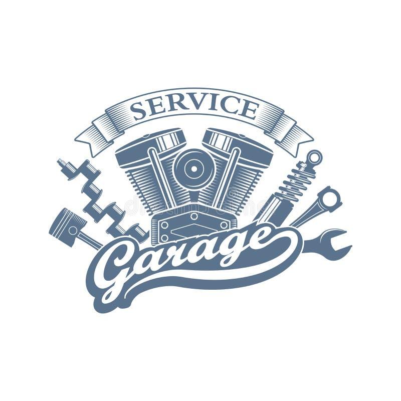 Vector garage logoo royalty free stock photo
