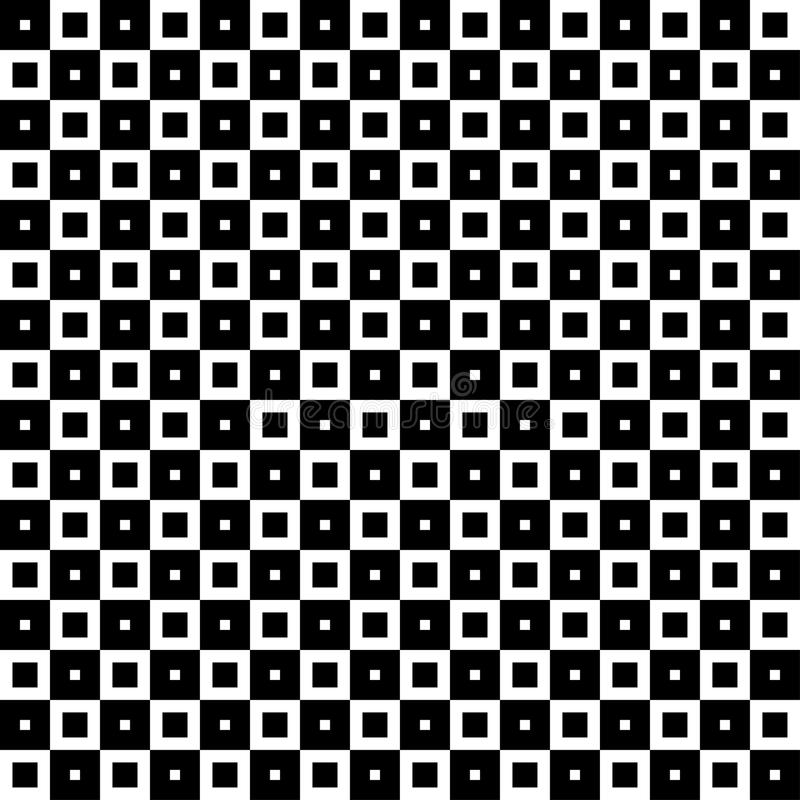 Monochrome geometric ornament. Vector seamless pattern. Endless texture can be used for printing onto fabric, paper or scrap booking, wallpaper, pattern fills vector illustration