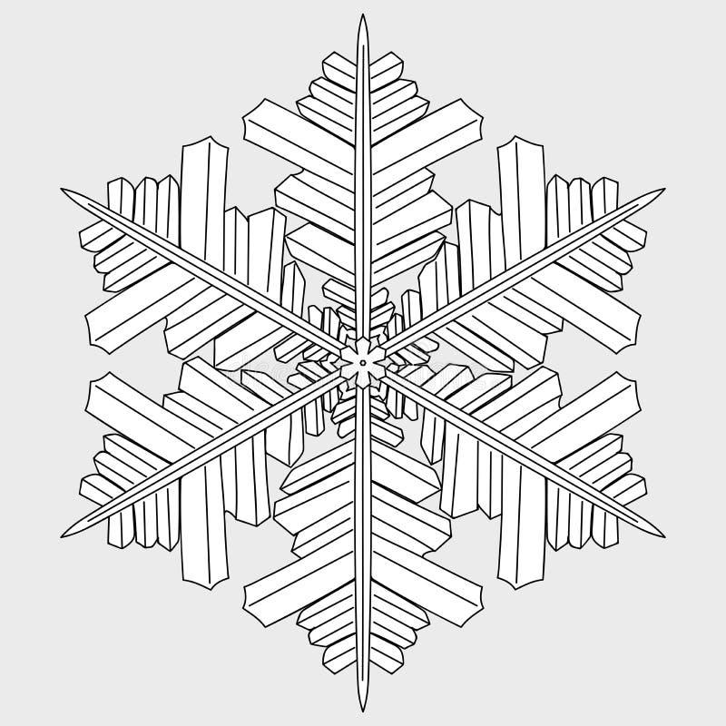 Monochrome geometric snowflake stock photos
