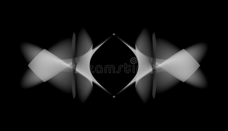 Monochrome Gradient Organic Shapes In Black Space Abstract Background Futuristic Free Form Texture Geometric Symmetry Pattern Stock Illustration Illustration Of Hypnotic Fantasy 139662586