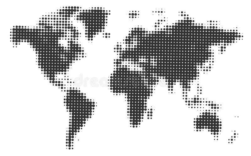 Monochrome halftone world map vector illustration stock vector download monochrome halftone world map vector illustration stock vector illustration of business cartography gumiabroncs Gallery