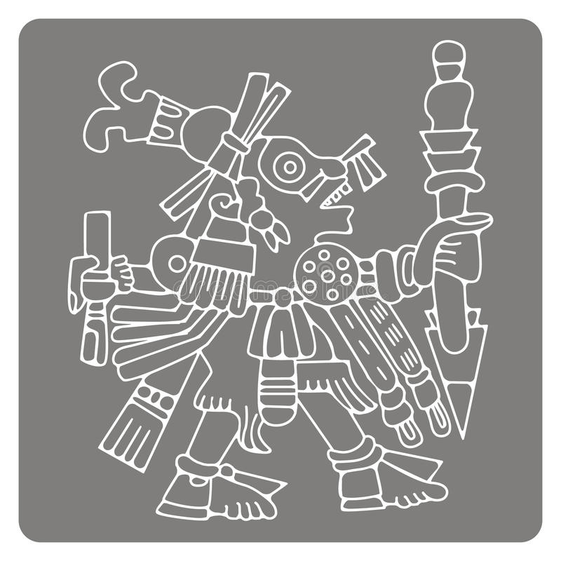 Free Monochrome Icon With Symbols From Aztec Codices Royalty Free Stock Photo - 73539365