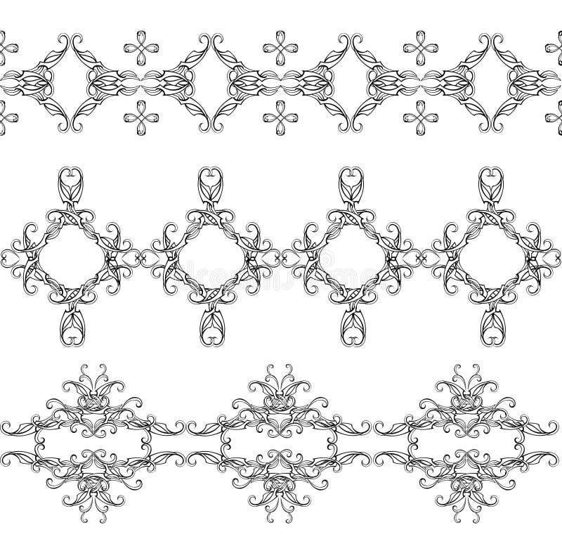 Download Monochrome Interwoven Ornaments Royalty Free Stock Photo - Image: 14257605
