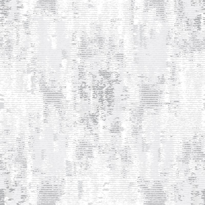 Monochrome Irregular Noisy Woven Effect Textured Background. Rough Graphic Distressed Weave Effect Seamless Pattern. Vector Repeat. Monochrome Irregular Noisy vector illustration