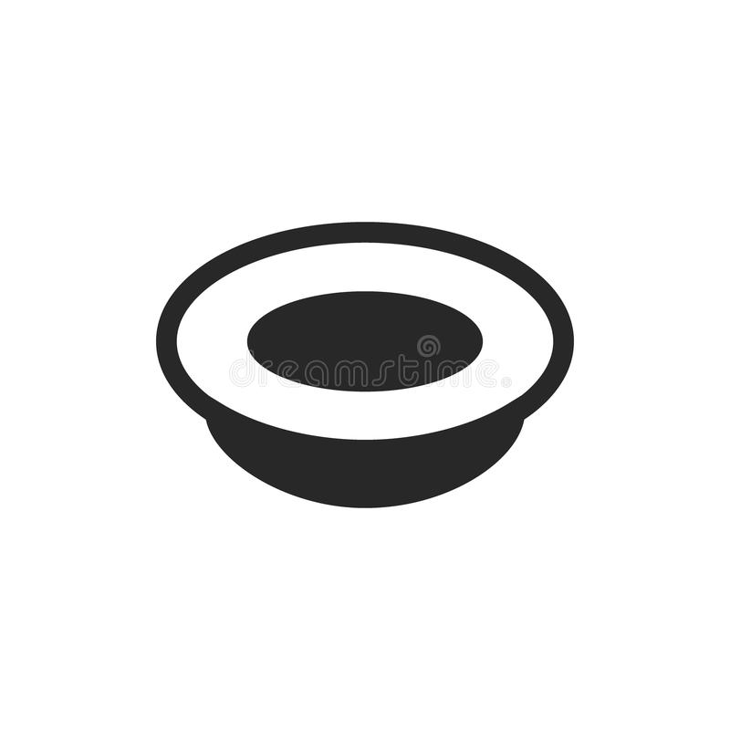 Monochrome isolated plate icon on white background vector illustration