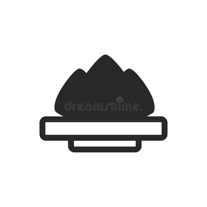 Monochrome japanese plate with wasabi icon on white background royalty free illustration