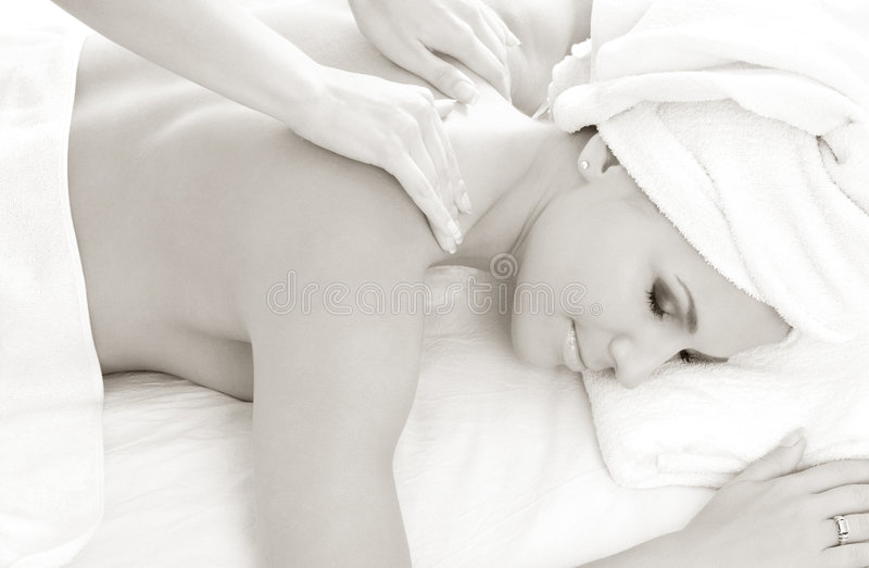 Monochrome massage #2 stock photos