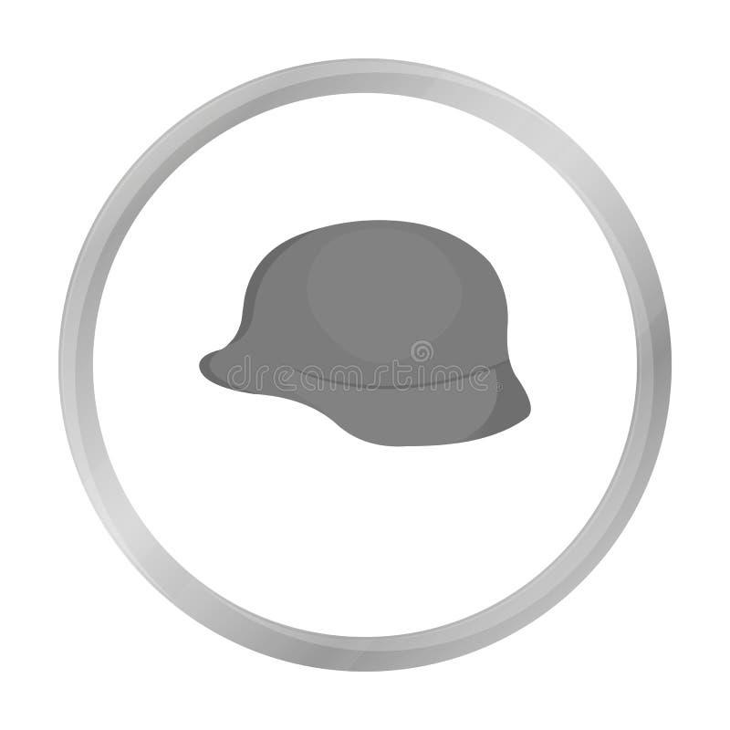 Monochrome militaire d'icône de casque de soldat Icône simple d'arme des grandes munitions, bras réglés illustration libre de droits