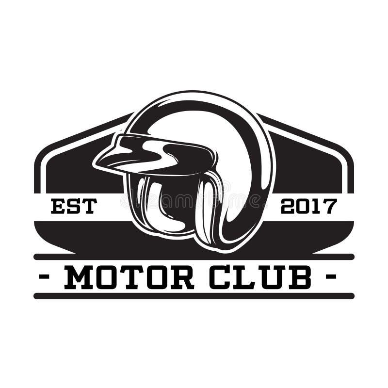 MONOCHROME MOTOR CLUB EMBLEM royalty free illustration