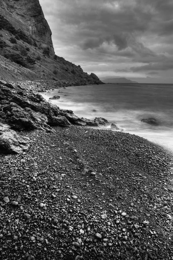 monochrome mountains sea στοκ φωτογραφίες