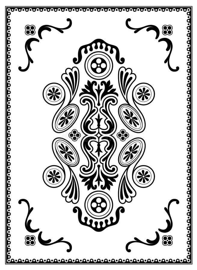 Monochrome Ornament Stock Image