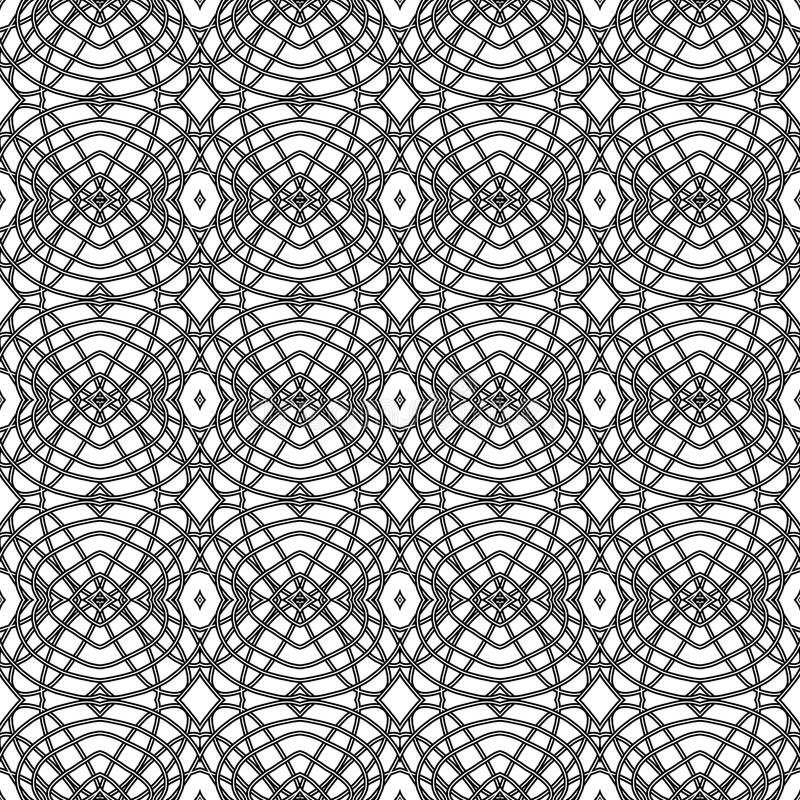 Monochrome pattern. Abstract geometric pattern in black and white stock illustration