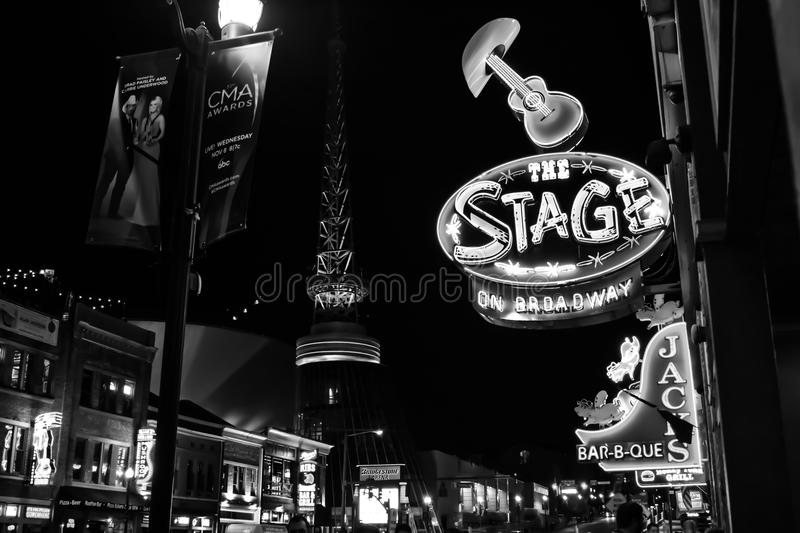 Monochrome Photo of the City royalty free stock image