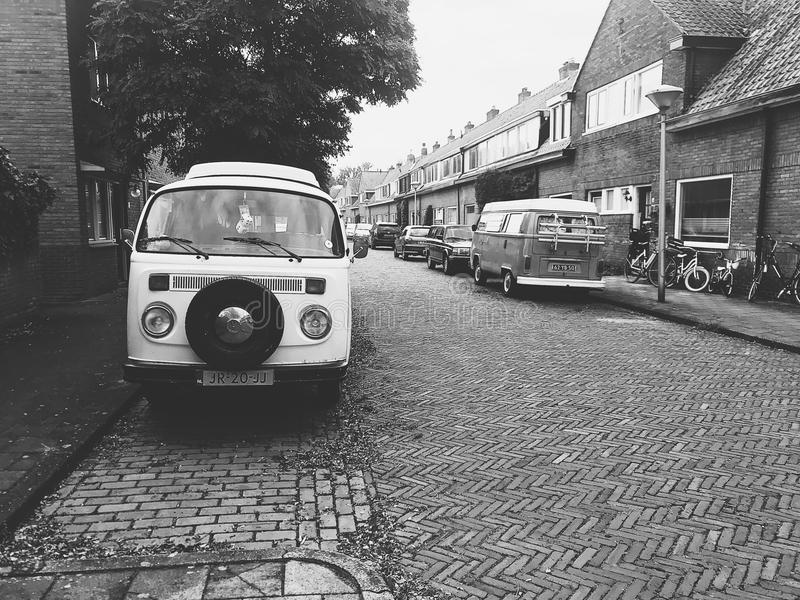 Monochrome Photo of the Street royalty free stock images
