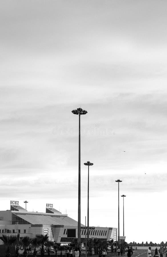 Monochrome Photography of Commercial Establishment stock photos
