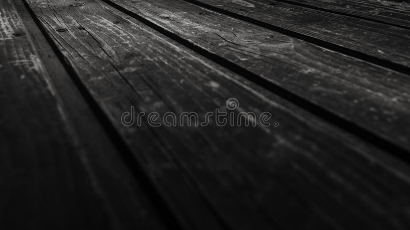 Monochrome Photography of Wooden Planks royalty free stock photo