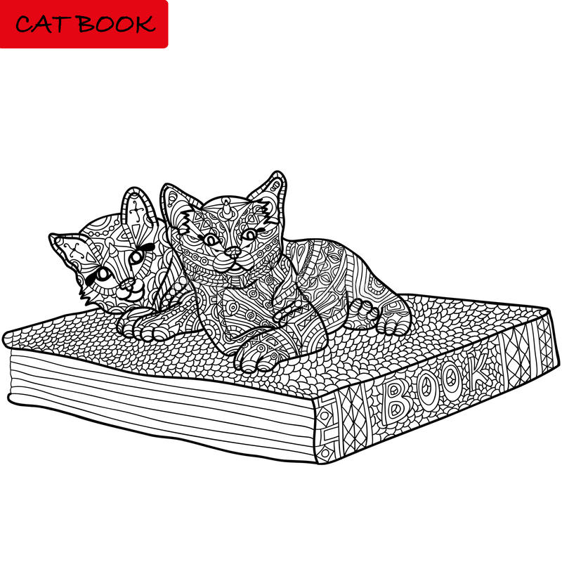 Monochrome Picture Coloring Book For Adults