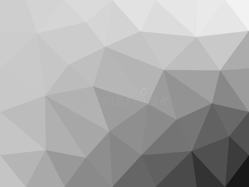 Monochrome polygon abstract background. stock illustration