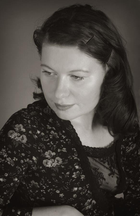 monochrome portrait woman στοκ φωτογραφίες
