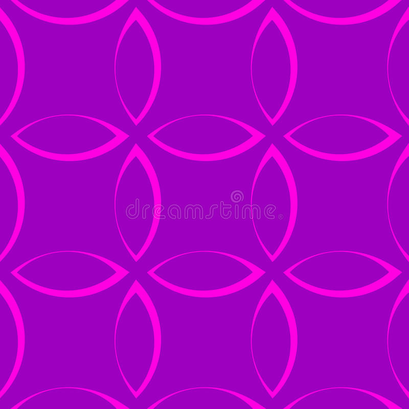 Monochrome repetitive pattern with petal / flower / leaf shapes. stock illustration