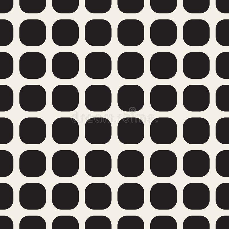 Monochrome seamless geometric pattern. vector illustration