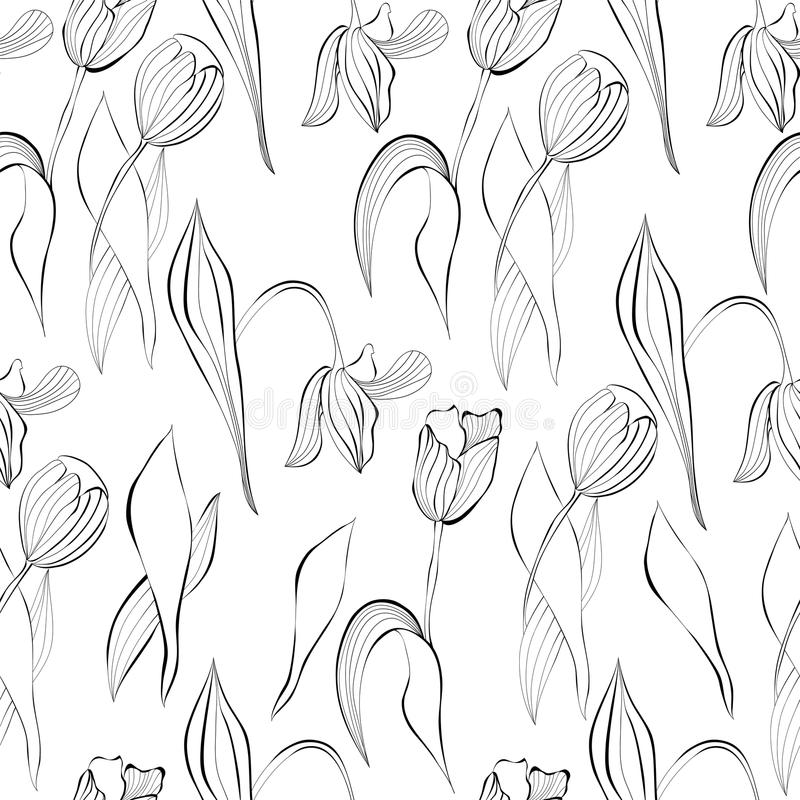 Download Monochrome Seamless Pattern Royalty Free Stock Photos - Image: 25554508