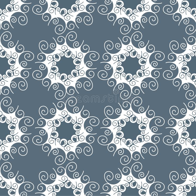 Monochrome seamless pattern. Abstract geometric background with hexagonal motif. Lace structure, elegant ornament vector illustration
