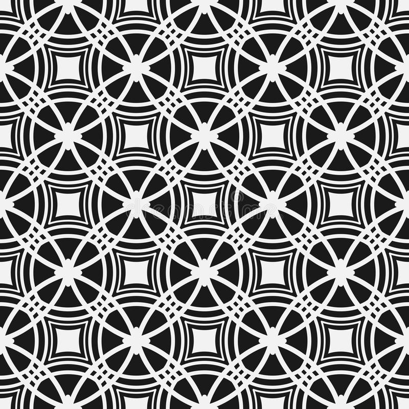 Monochrome seamless pattern. Geometric simple repetitive background. royalty free illustration