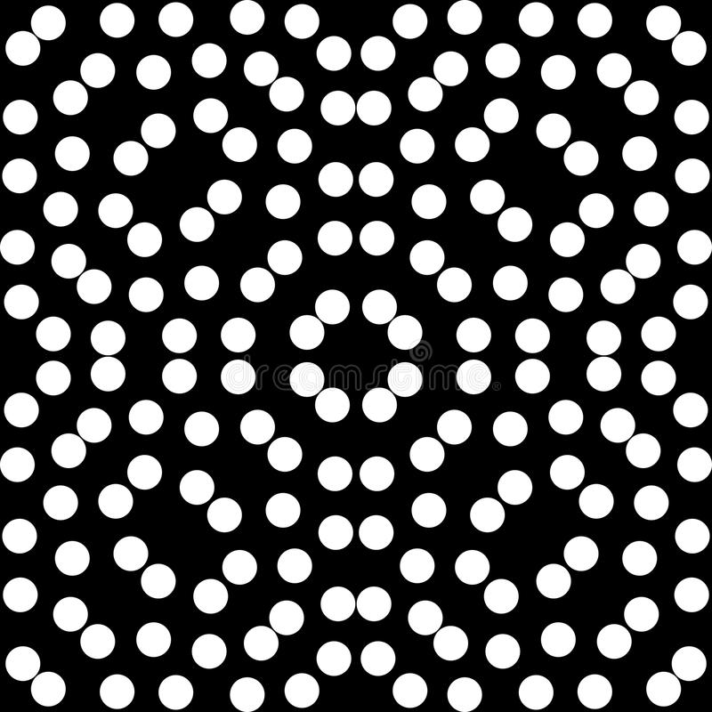 Vector seamless pattern, monochrome mosaic texture, ornamental b stock illustration