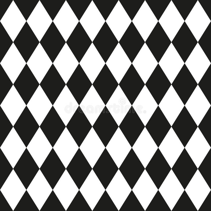 Monochrome seamless pattern in 80s style. For your decoration stock illustration