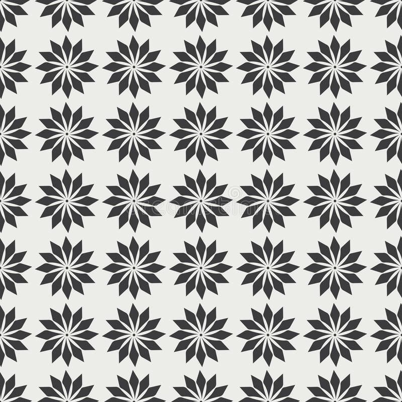 Monochrome seamless pattern with stylish decorative elements vector illustration
