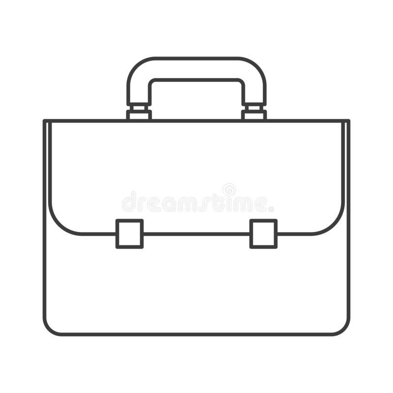 Monochrome silhouette of executive briefcase royalty free illustration