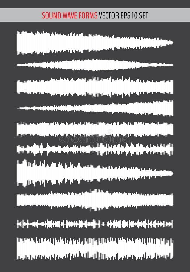 Monochrome sound waves royalty free illustration