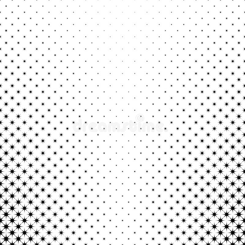 Monochrome star pattern - abstract vector background from geometric polygonal shapes stock illustration