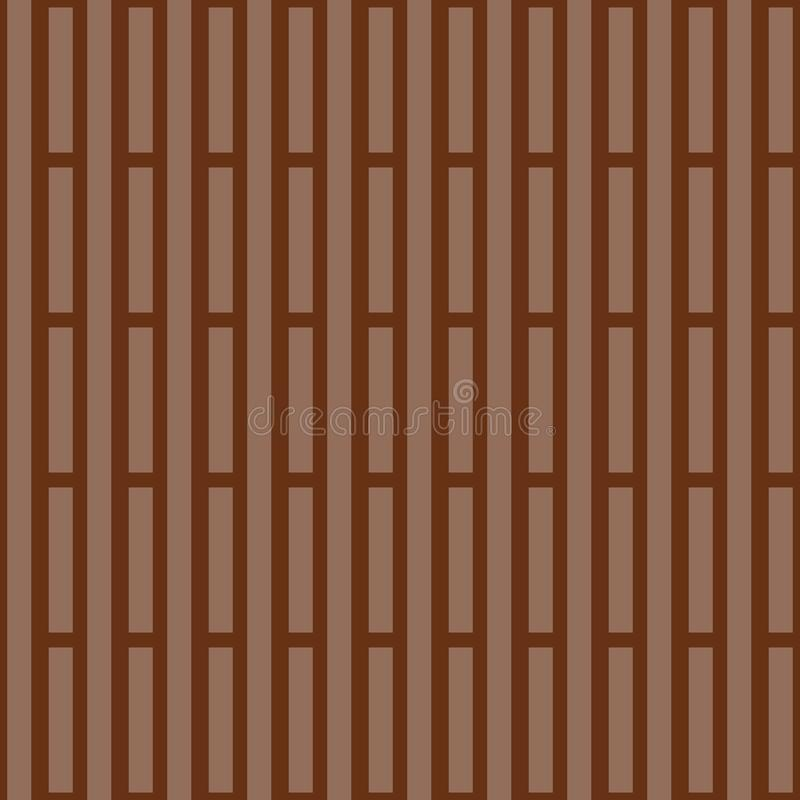 Monochrome striped background. Geometric print for fabric in brown tones. Vector illustration.  royalty free illustration
