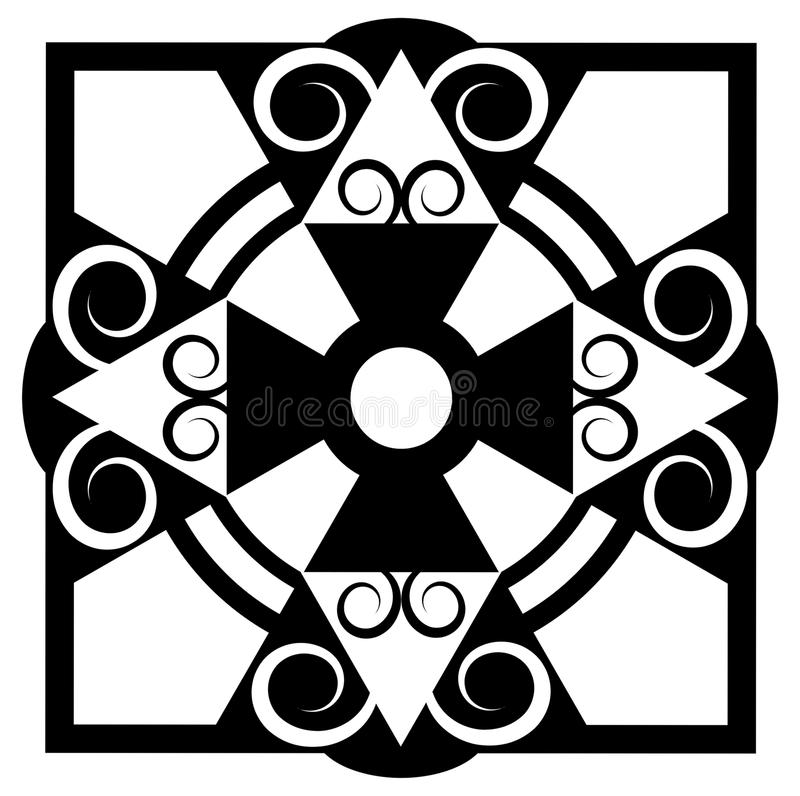 Monochrome tile stock image
