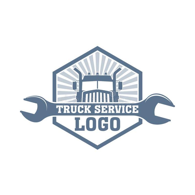 Vector truck service logo royalty free stock photo
