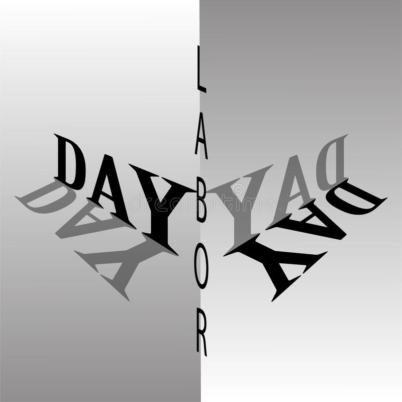 Monochrome Labor Day vector royalty free stock photography
