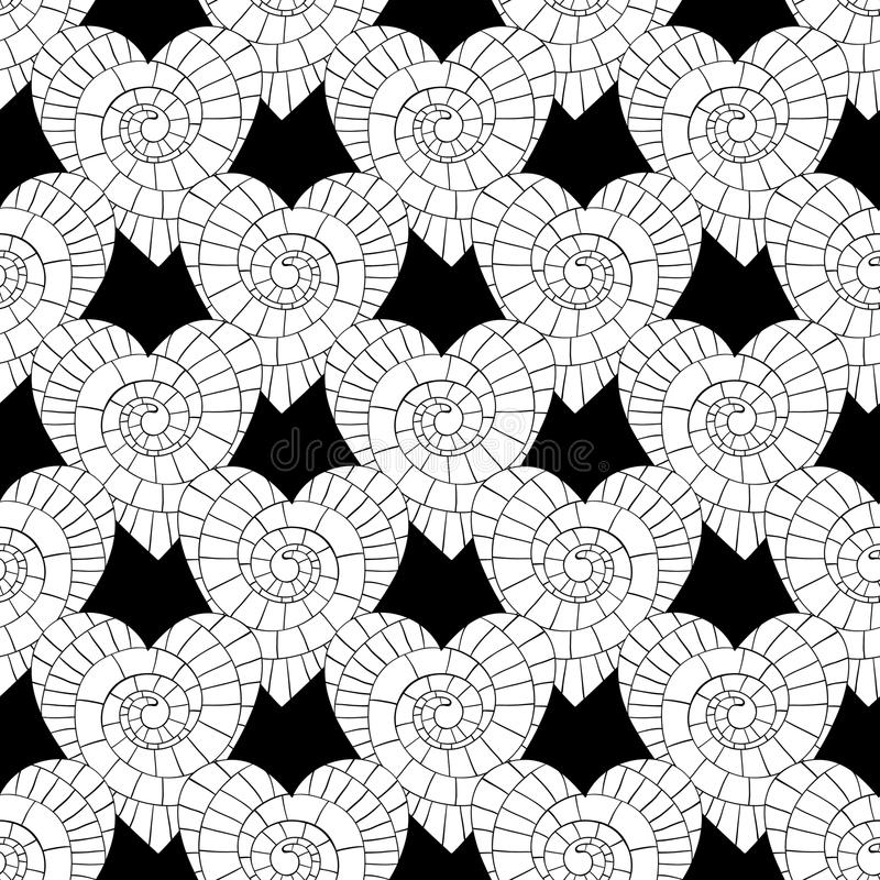 Monochrome Vector seamless pattern of beautiful hearts. The best for Valentine`s Day, Wedding and Birthday design. Vector seamless pattern of beautiful hearts vector illustration
