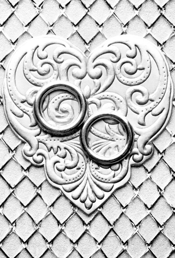 Monochrome wedding card royalty free stock image