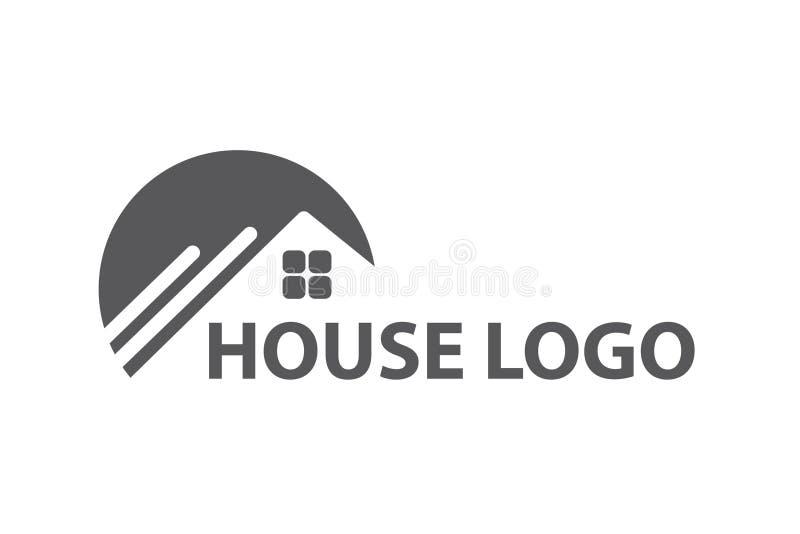 Monochromu domowy logo royalty ilustracja