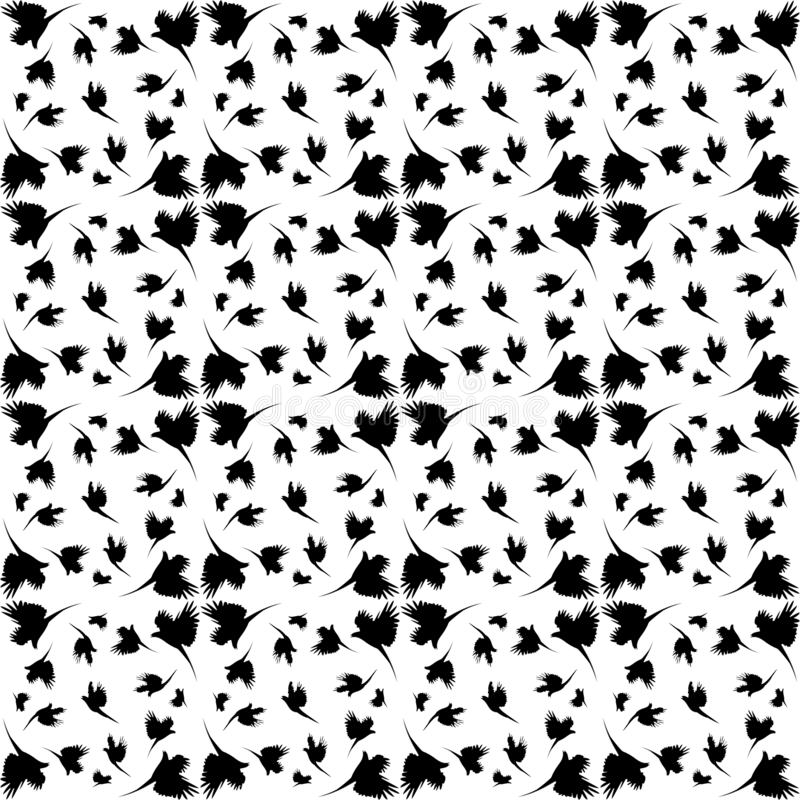 Monochromu wzór z imitacji piórkami ilustracji