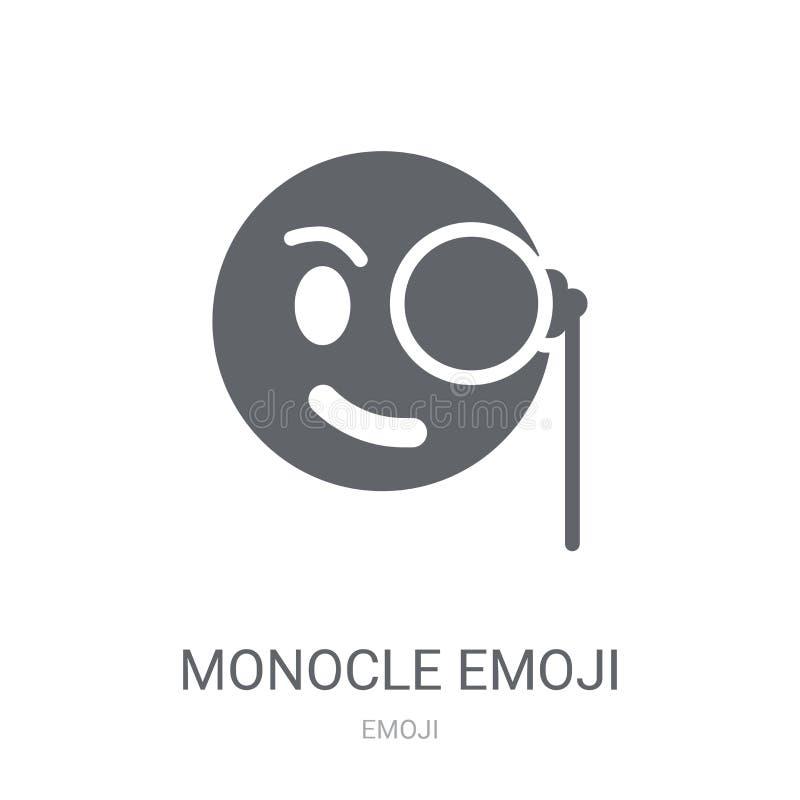 Monocle emoji icon. Trendy Monocle emoji logo concept on white b vector illustration