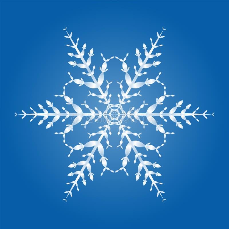 Monocristal de flocon de neige illustration libre de droits